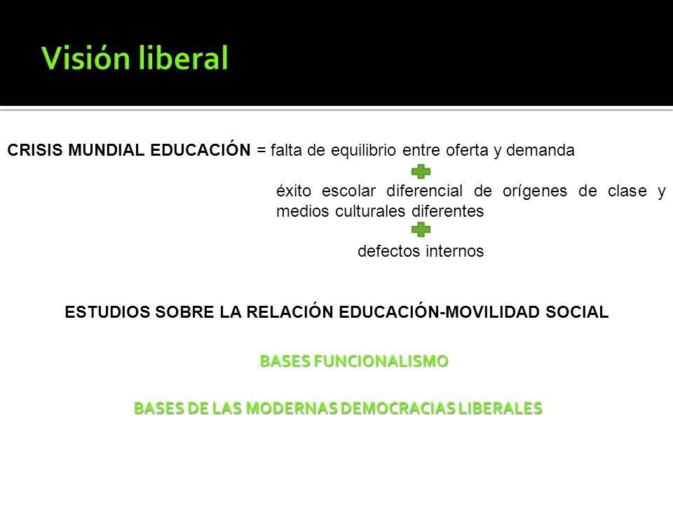 ESTUDIOS SOBRE LA RELACIÓN EDUCACIÓN-MOVILIDAD SOCIAL