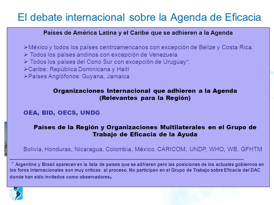 El debate internacional sobre la Agenda de Eficacia