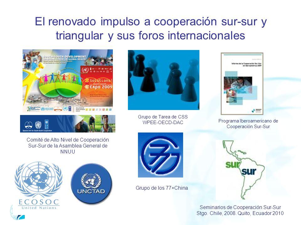 El renovado impulso a cooperación sur-sur y triangular y sus foros internacionales
