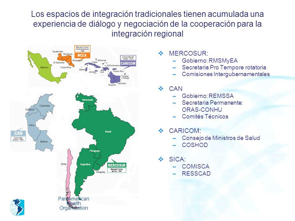 Los espacios de integración tradicionales tienen acumulada una experiencia de diálogo y negociación de la cooperación para la integración regional