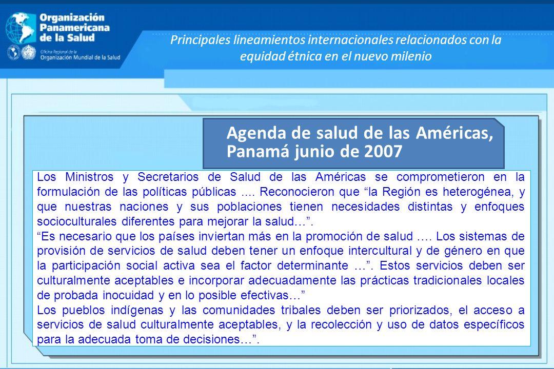Agenda de salud de las Américas, Panamá junio de 2007