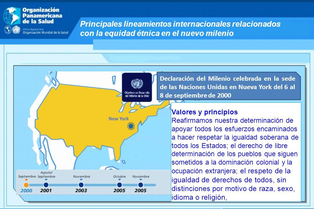 Principales lineamientos internacionales relacionados con la equidad étnica en el nuevo milenio