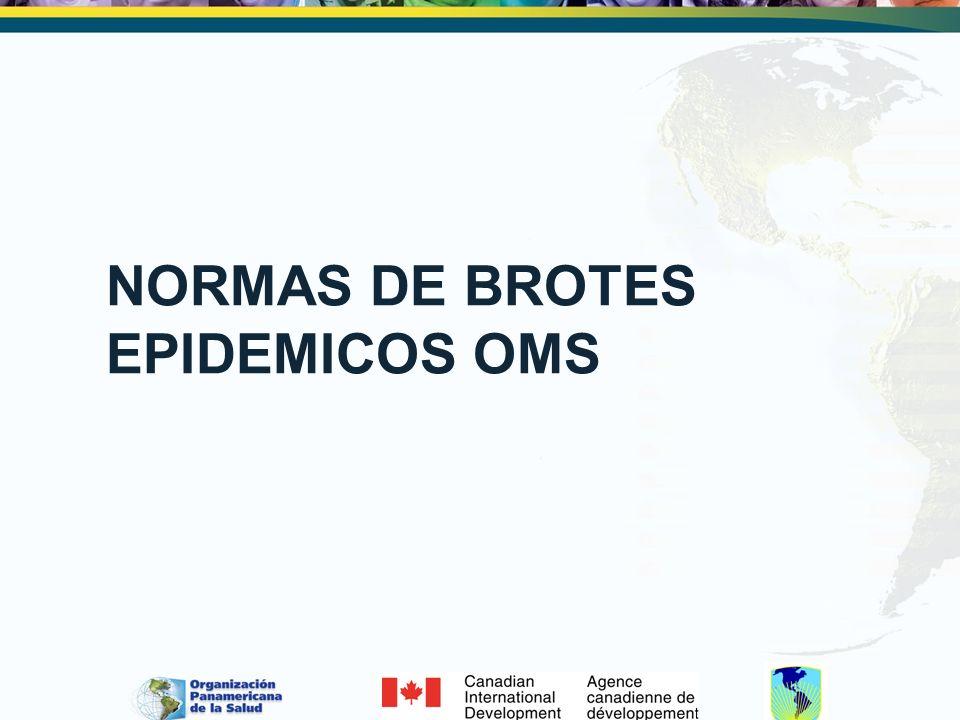 NORMAS DE BROTES EPIDEMICOS OMS