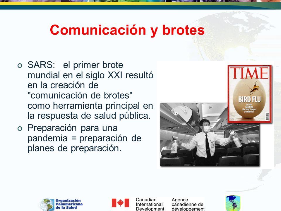 Comunicación y brotes