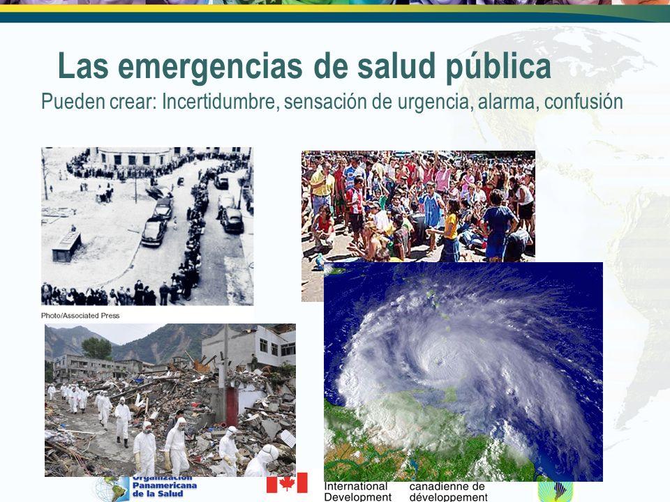 Las emergencias de salud pública