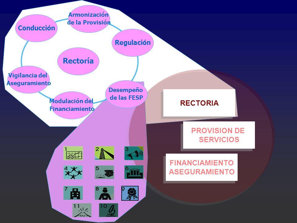 Rectoría RECTORIA PROVISION DE SERVICIOS FINANCIAMIENTO ASEGURAMIENTO
