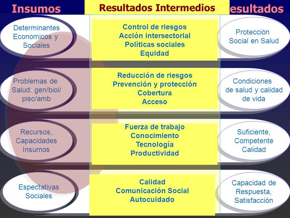 Resultados Intermedios Acción intersectorial Prevención y protección