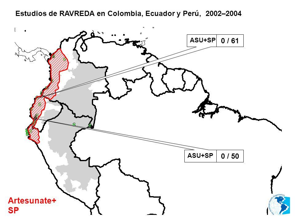 Estudios de RAVREDA en Colombia, Ecuador y Perú, 2002–2004