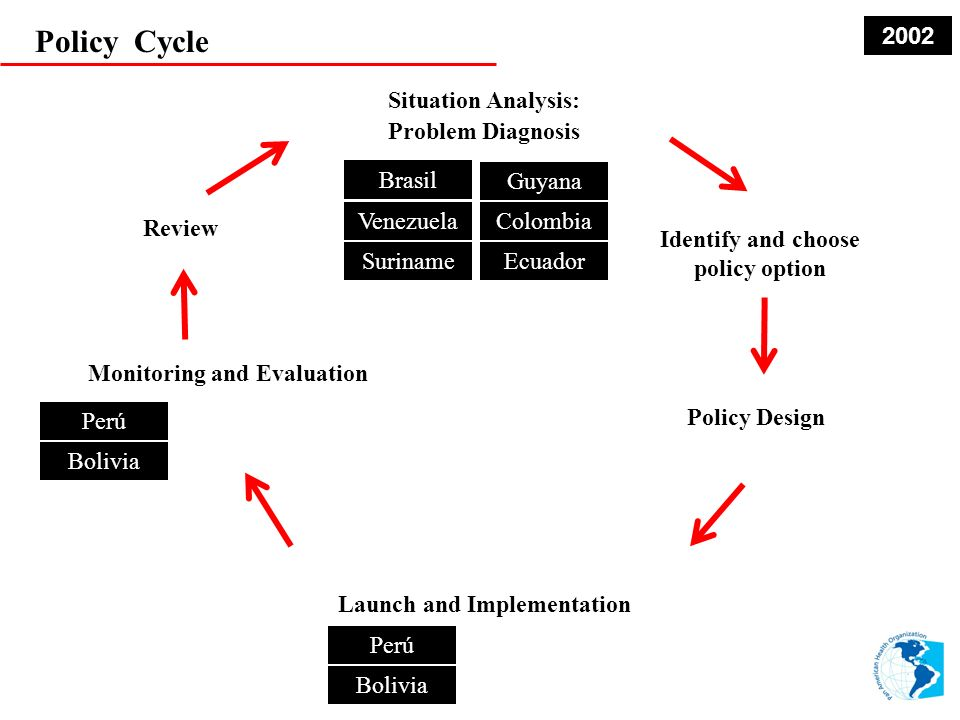 Policy Cycle 2002 Situation Analysis: Problem Diagnosis Brasil Guyana