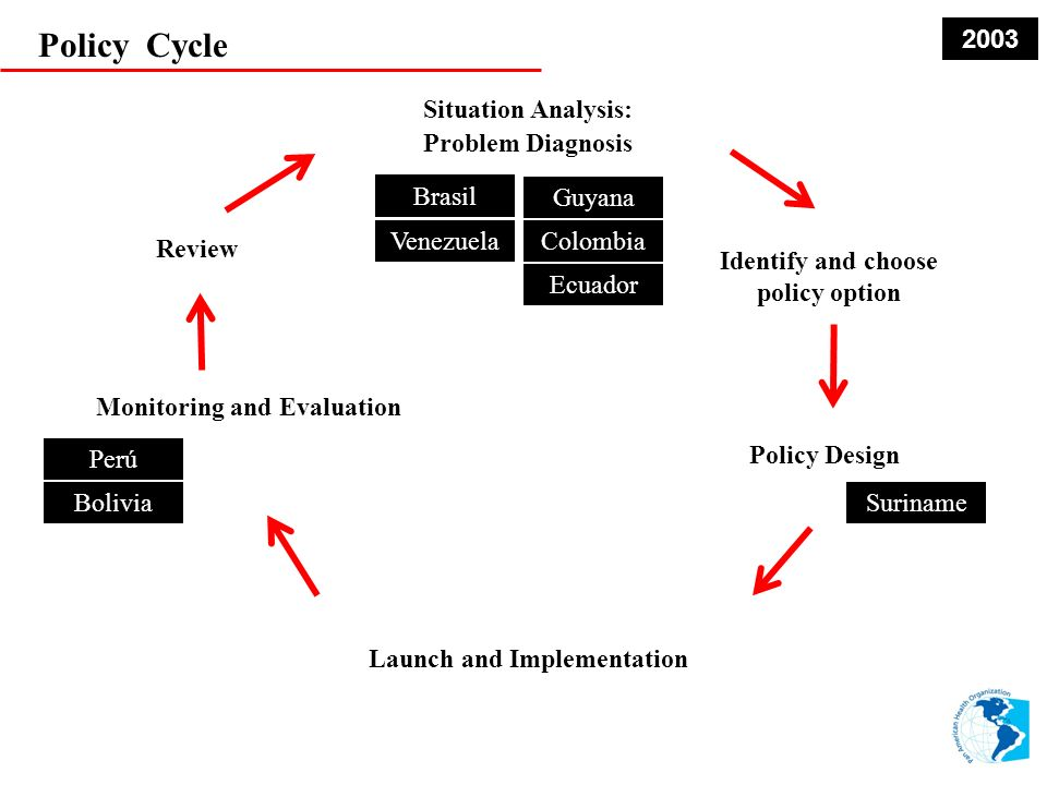 Policy Cycle 2003 Situation Analysis: Problem Diagnosis Brasil Guyana
