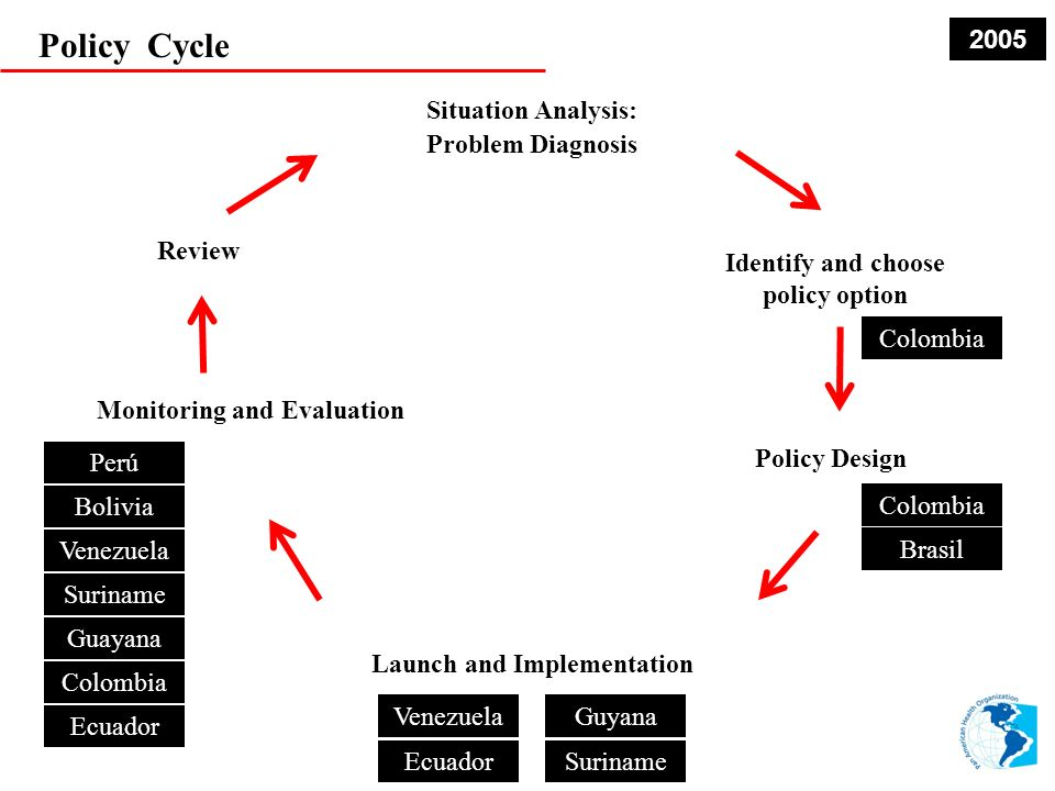 Policy Cycle 2005 Situation Analysis: Problem Diagnosis Review