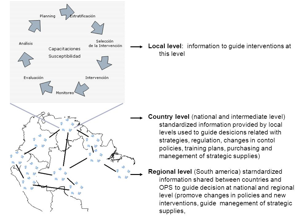 Local level: information to guide interventions at this level