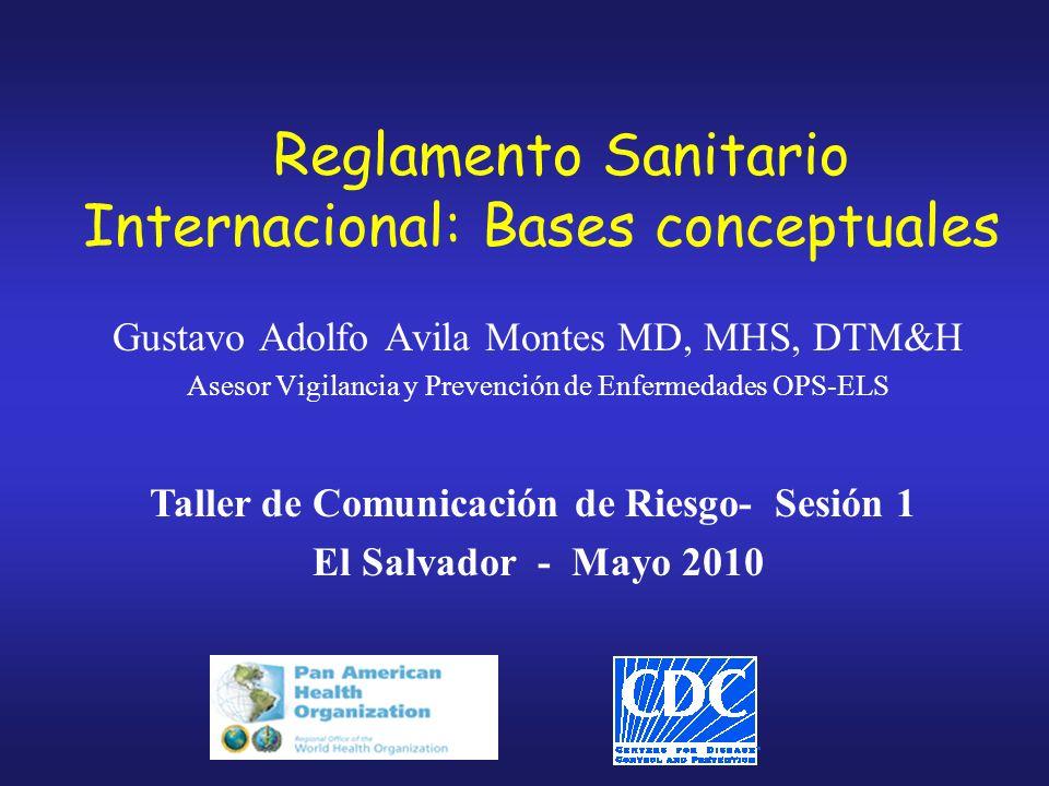Reglamento Sanitario Internacional: Bases conceptuales