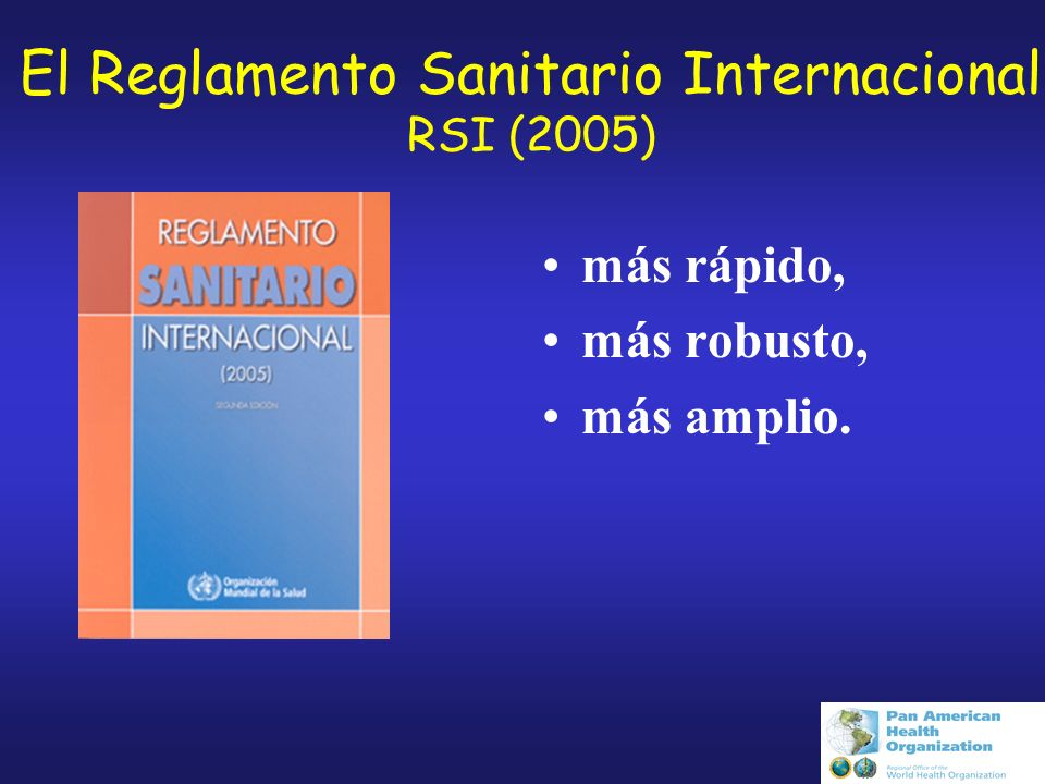 El Reglamento Sanitario Internacional RSI (2005)