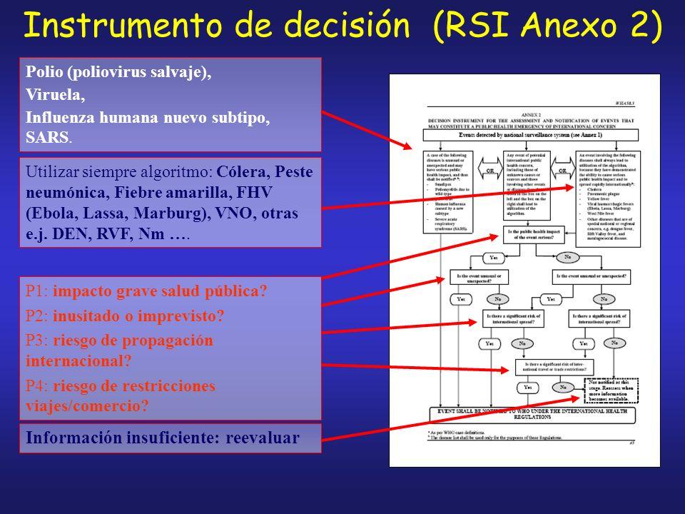 Instrumento de decisión (RSI Anexo 2)