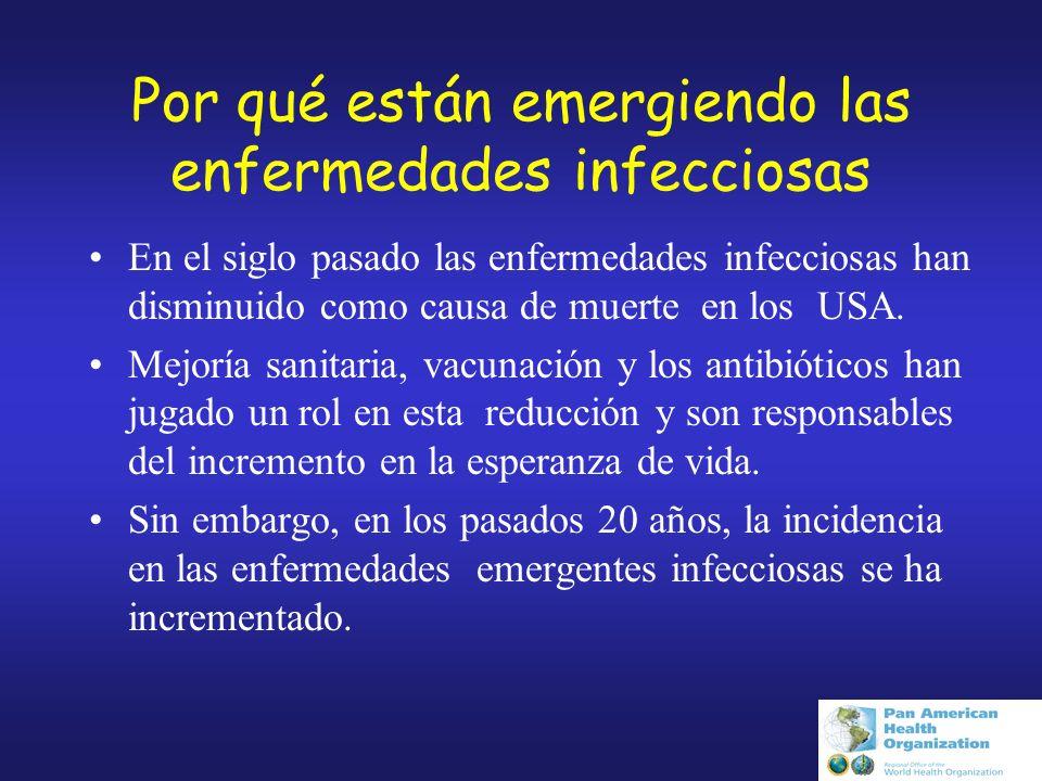 Por qué están emergiendo las enfermedades infecciosas