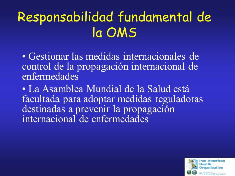Responsabilidad fundamental de la OMS
