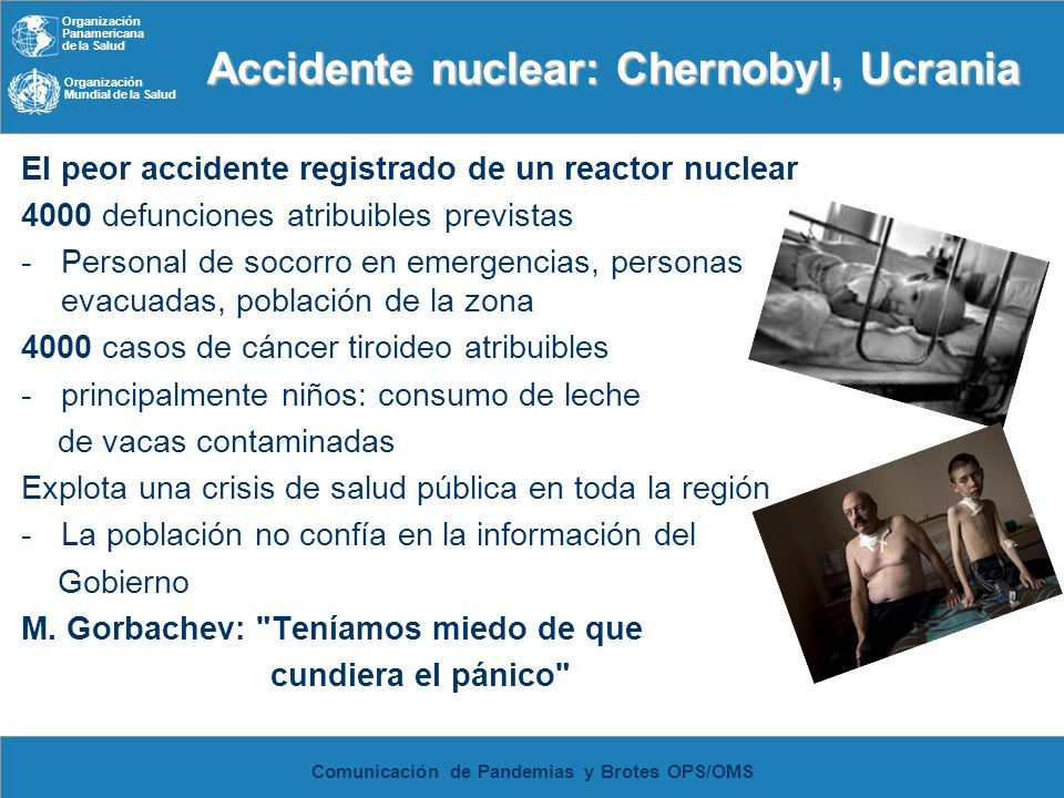 Accidente nuclear: Chernobyl, Ucrania