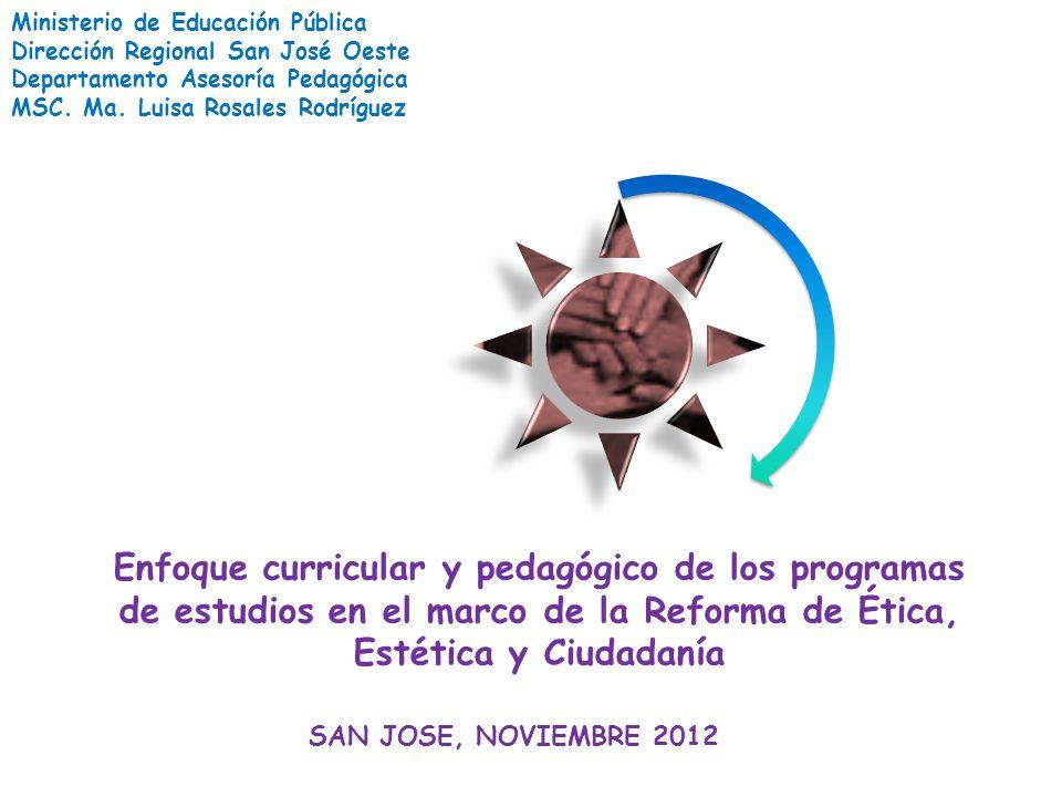 Ministerio de Educación Pública Dirección Regional San José Oeste ...