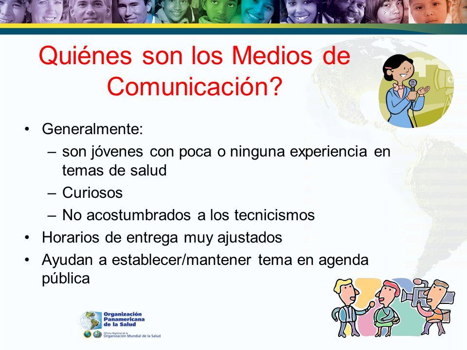 Quiénes son los Medios de Comunicación