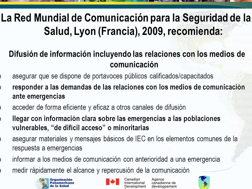 Capacidades básicas de comunicación de riesgos para emergencias de salud pública