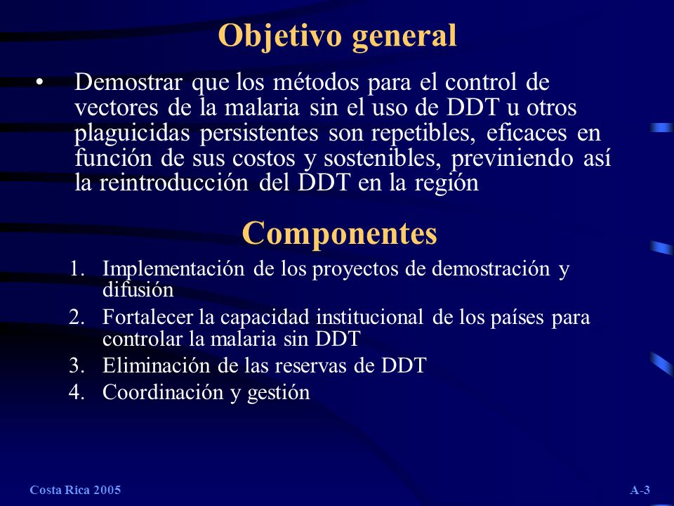 Objetivo general Componentes