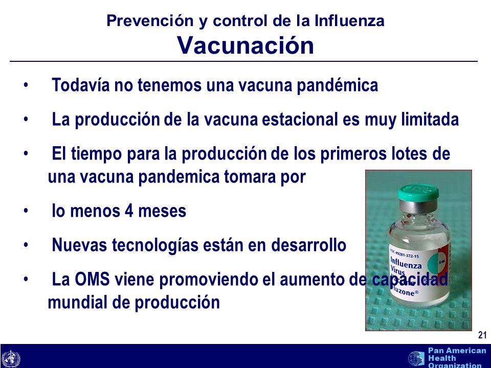 Prevención y control de la Influenza Vacunación