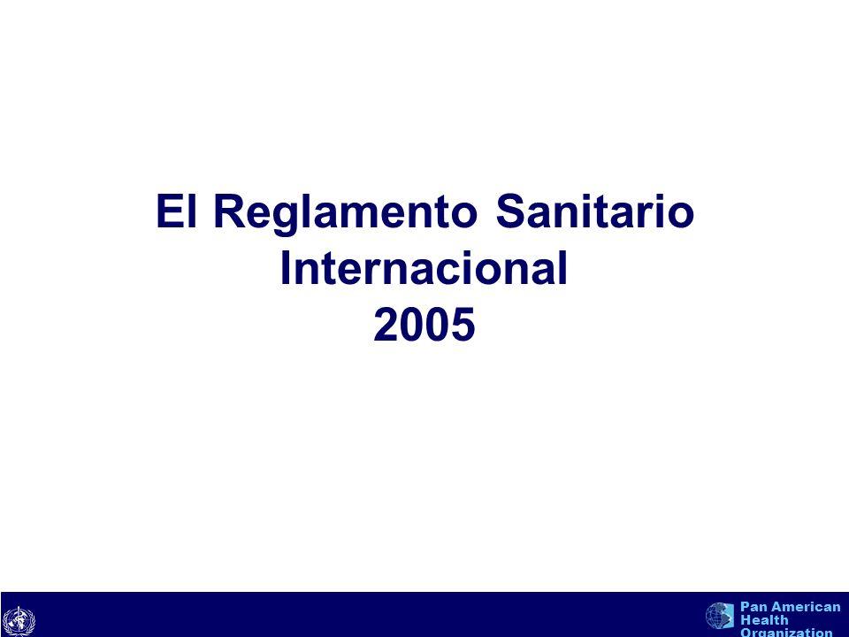 El Reglamento Sanitario Internacional 2005