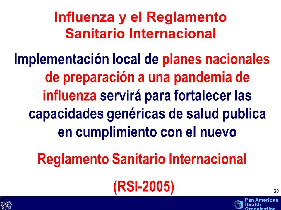 Influenza y el Reglamento Sanitario Internacional