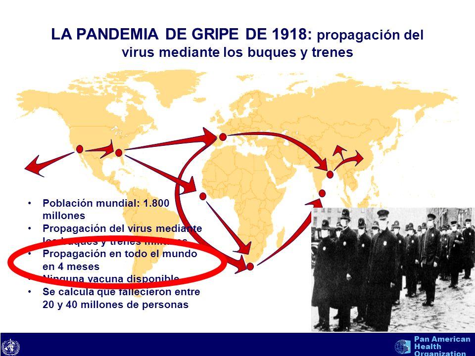 LA PANDEMIA DE GRIPE DE 1918: propagación del virus mediante los buques y trenes