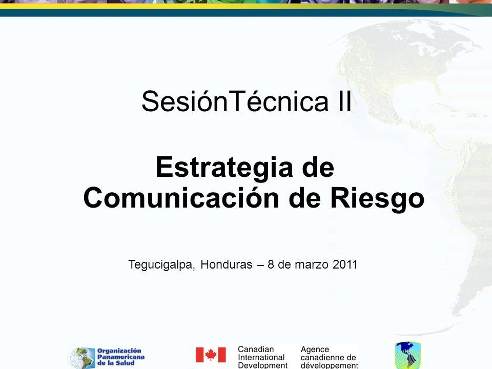 Estrategia de Comunicación de Riesgo