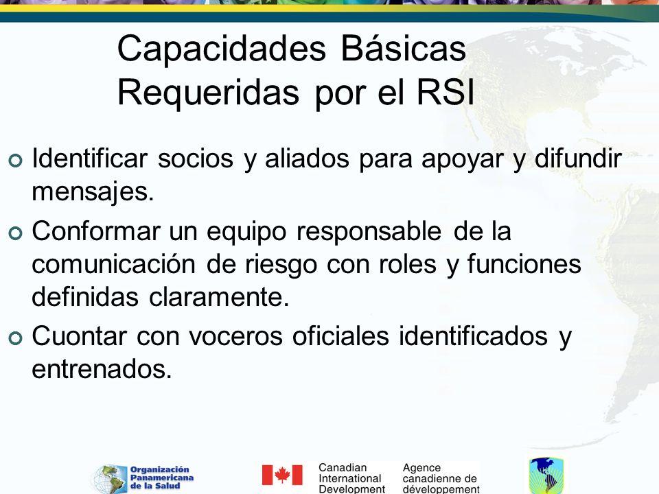Capacidades Básicas Requeridas por el RSI