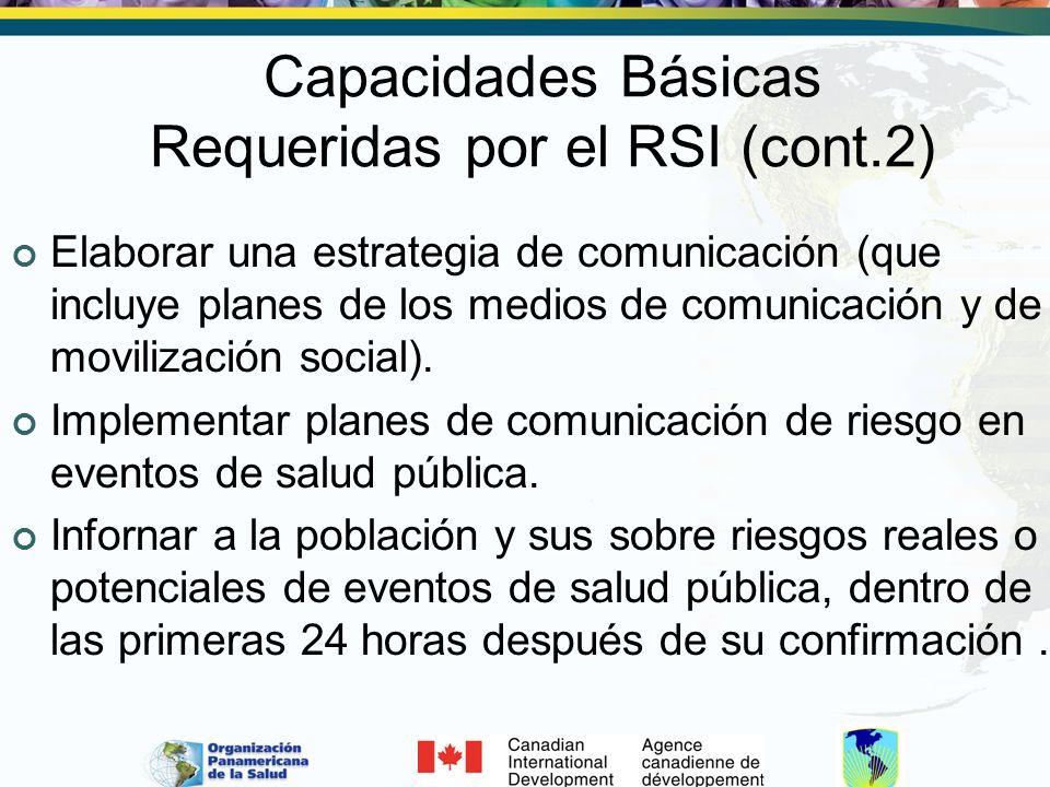Capacidades Básicas Requeridas por el RSI (cont.2)