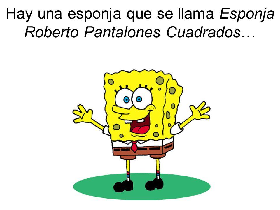 Hay una esponja que se llama Esponja Roberto Pantalones Cuadrados…