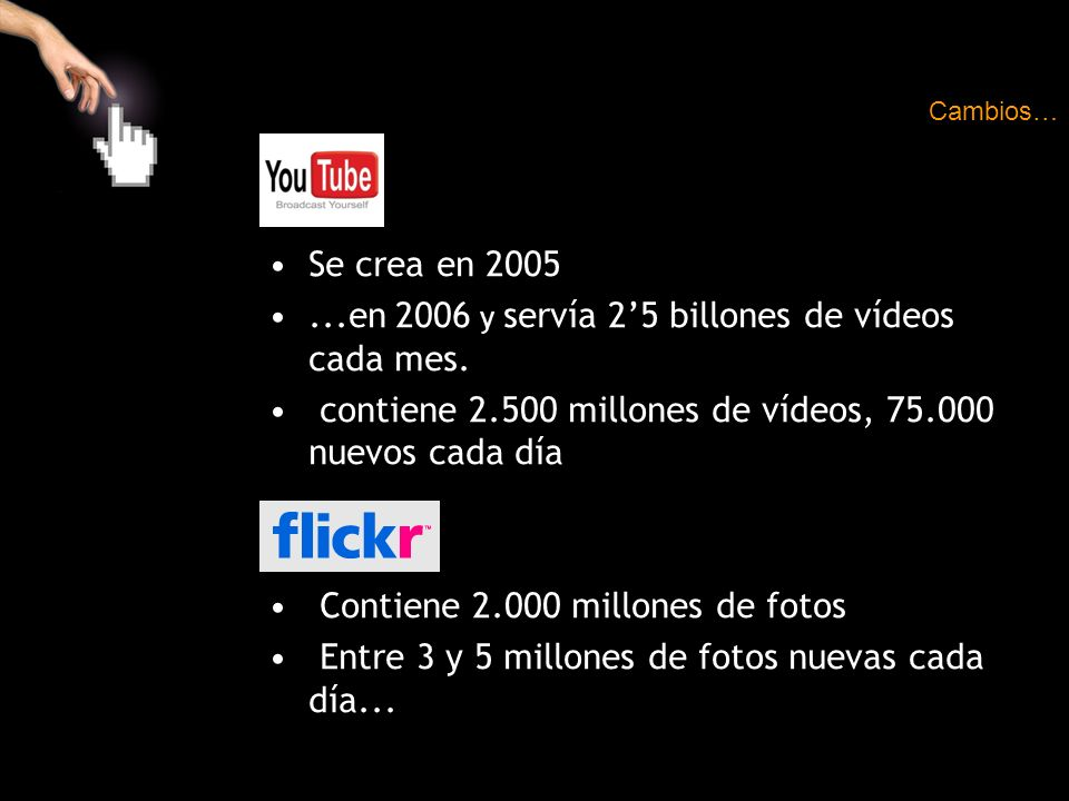 ...en 2006 y servía 2'5 billones de vídeos cada mes.