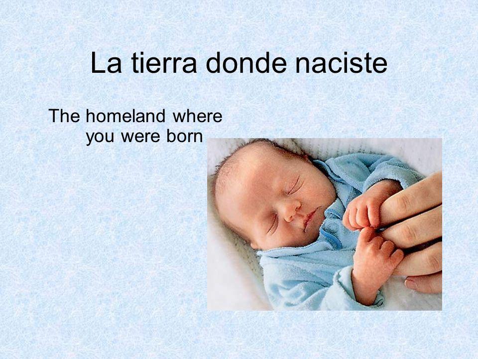 La tierra donde naciste