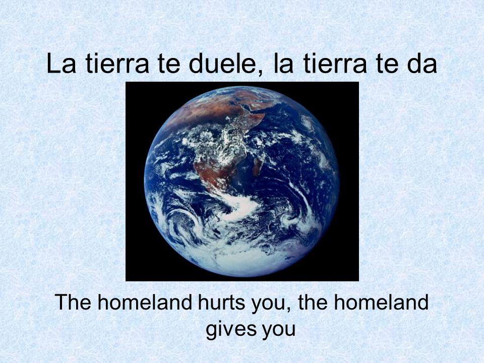La tierra te duele, la tierra te da