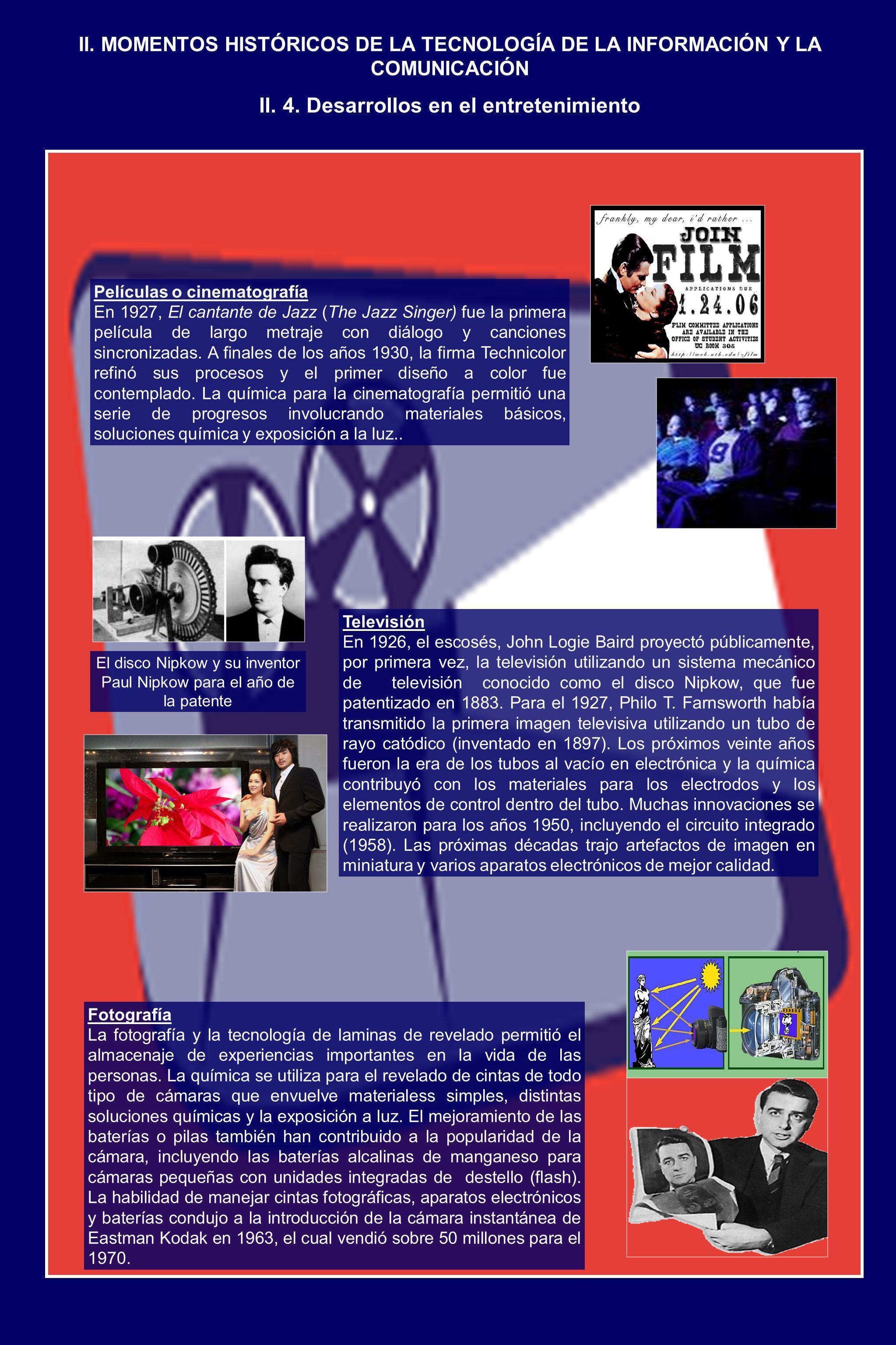 II. 4. Desarrollos en el entretenimiento
