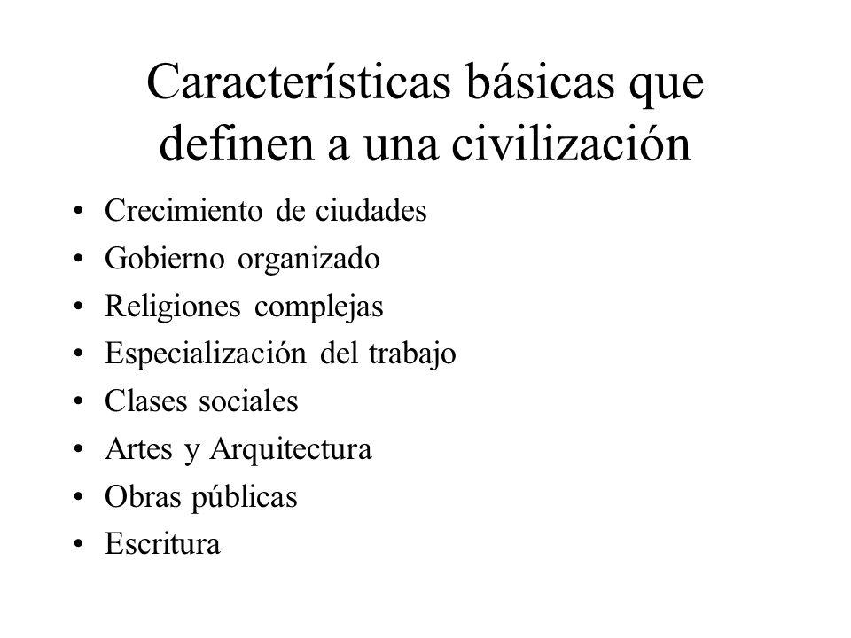 Características básicas que definen a una civilización