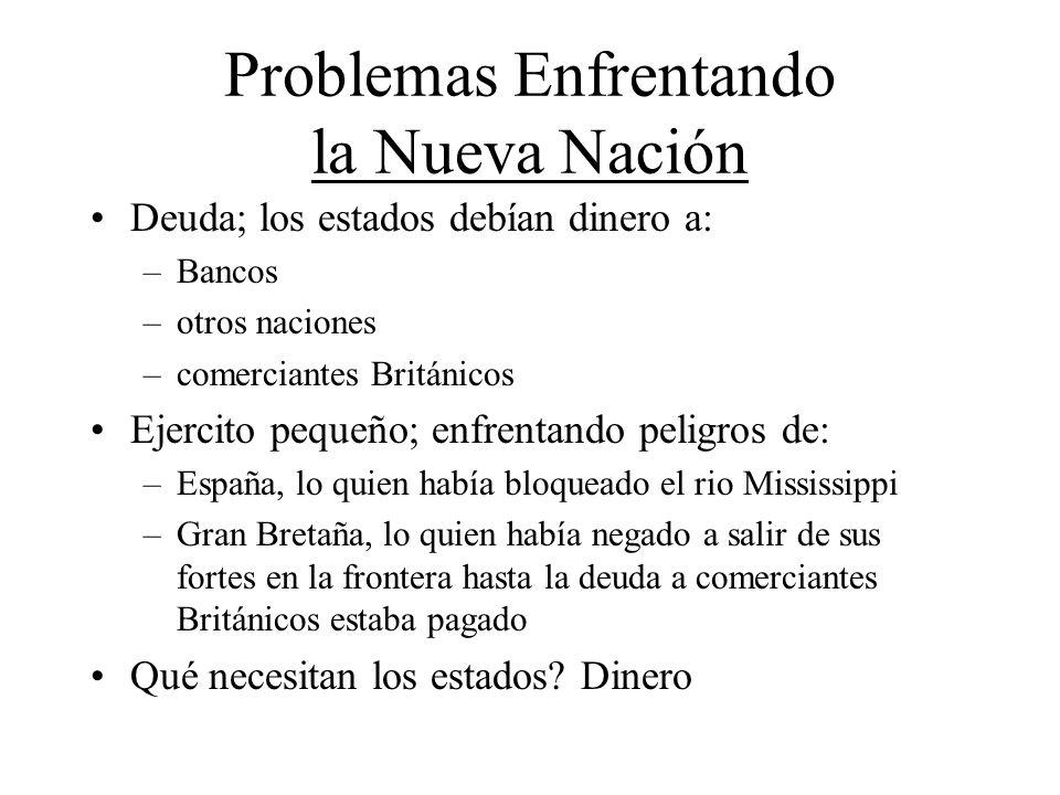Problemas Enfrentando la Nueva Nación