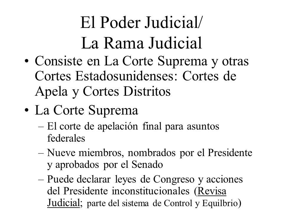 El Poder Judicial/ La Rama Judicial