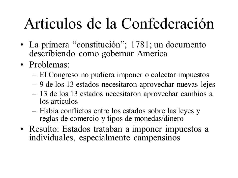 Articulos de la Confederación