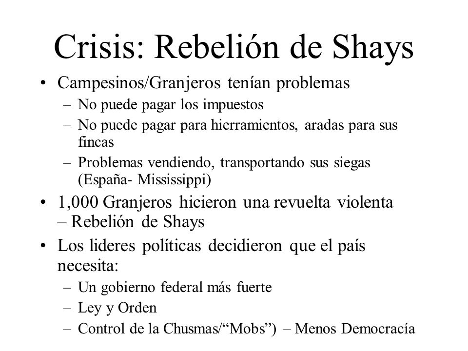 Crisis: Rebelión de Shays