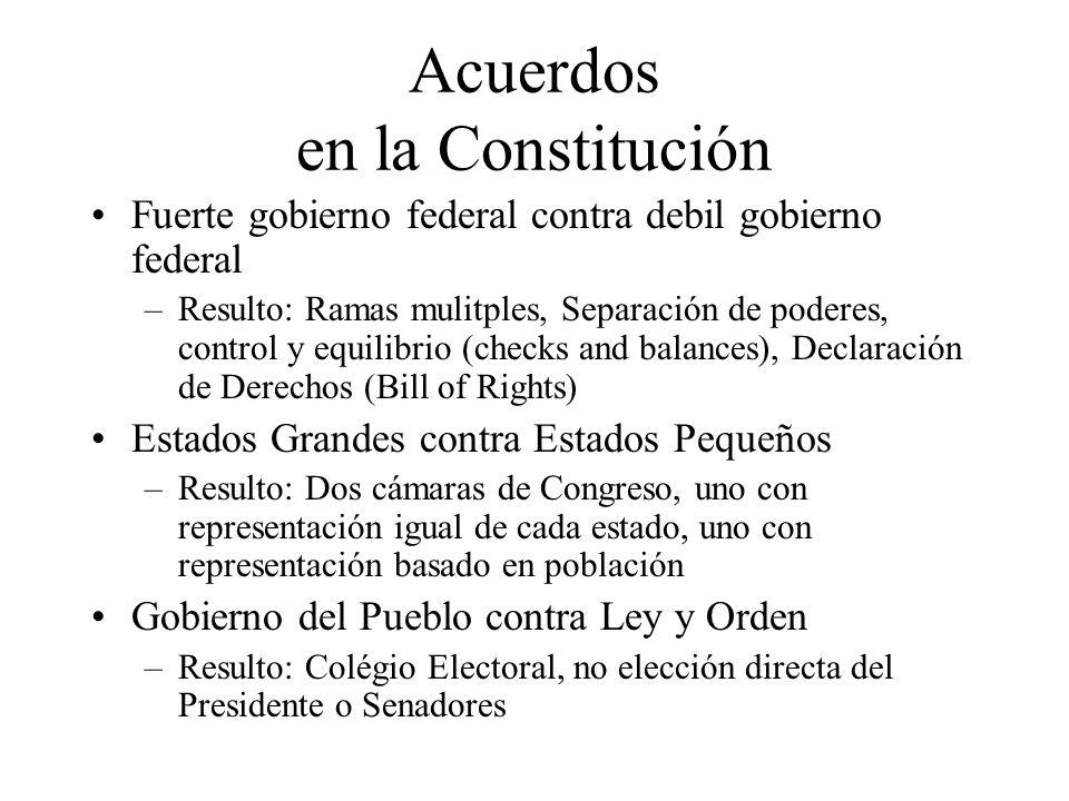 Acuerdos en la Constitución