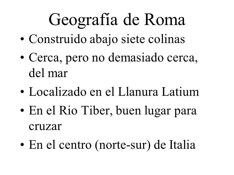 Geografía de Roma Construido abajo siete colinas