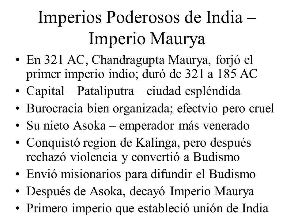 Imperios Poderosos de India – Imperio Maurya