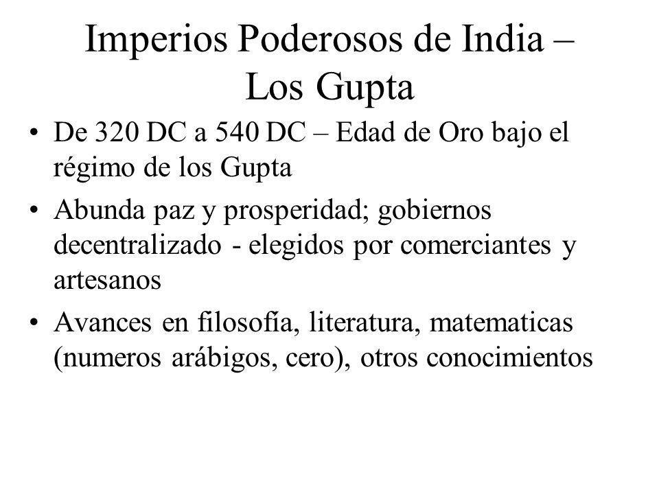 Imperios Poderosos de India – Los Gupta