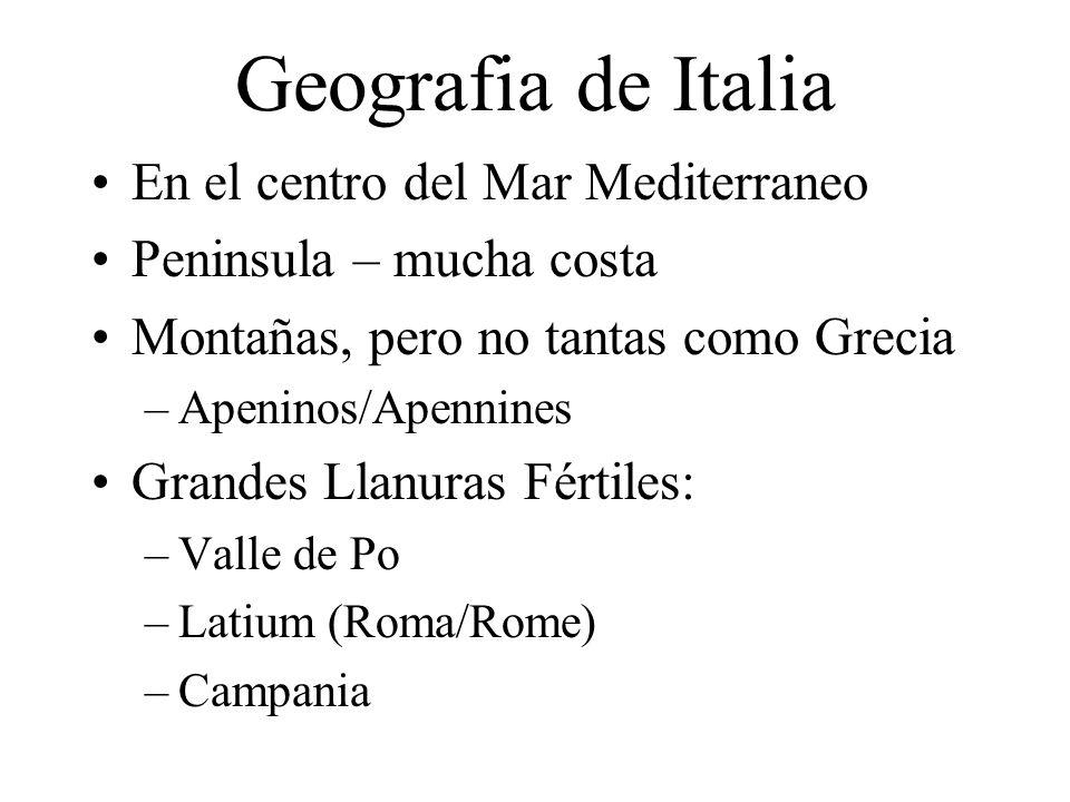 Geografia de Italia En el centro del Mar Mediterraneo