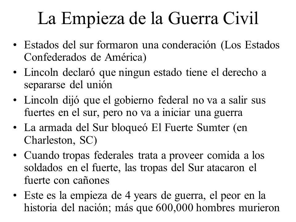 La Empieza de la Guerra Civil