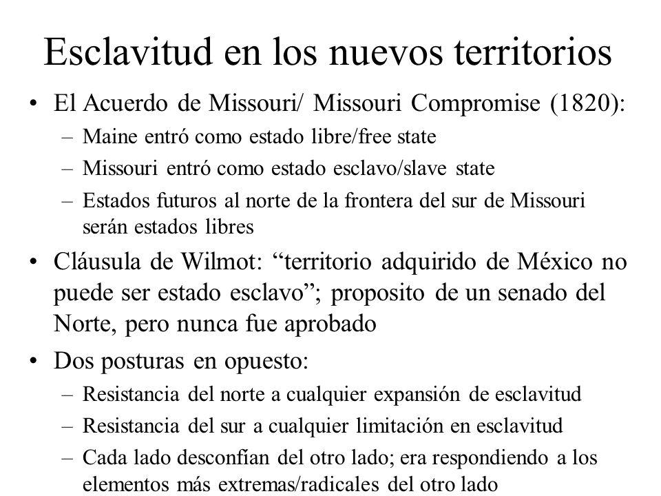 Esclavitud en los nuevos territorios